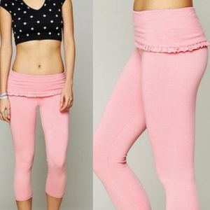 Solow Free People Movement Foldover Frill Legging